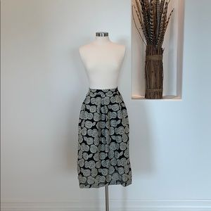 Who What Wear Rose Print Skirt
